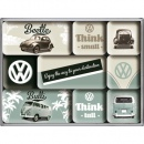 Magnet Set VW Think Tall & Small 9-teilig